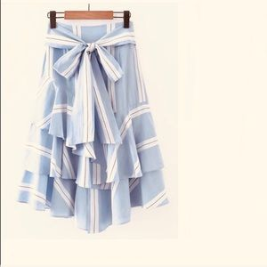 Dresses & Skirts - Bow tie waist ruffled layered skirt